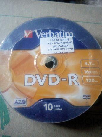 Продам диски DVD-R (10штук)