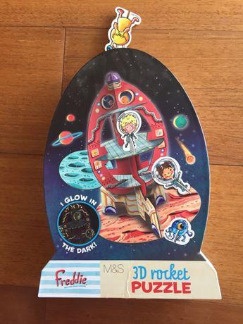 Puzzle 3D rocket