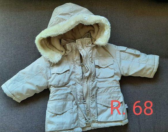 Płaszczyk kurtka niemowlęca jesien-zima rozmiar 68