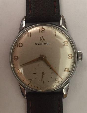 Relógio a corda manual, antigo, de coleção, Certina