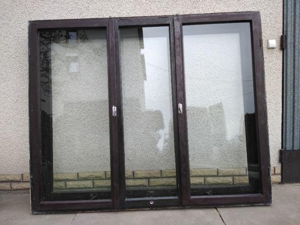 Okna drewniane 177x144cm 6szt + balkonowe 2szt
