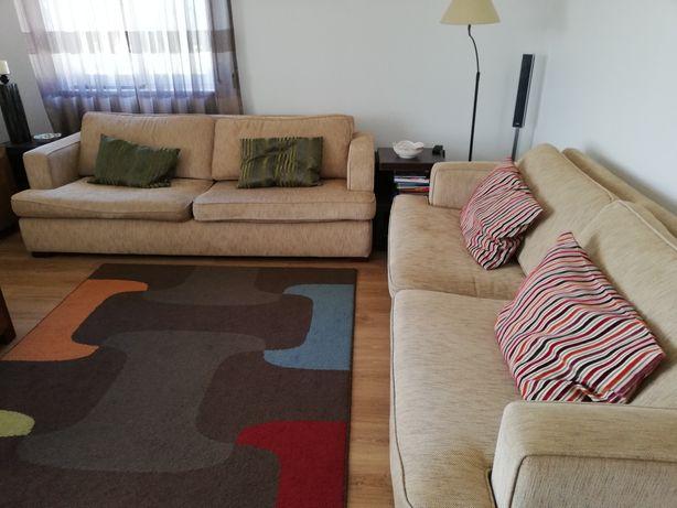 Conjunto sofás 3 lugares
