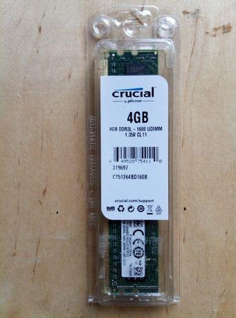 Оперативная память Crucial 4 ГБ DDR3 1600 Мгц Новая