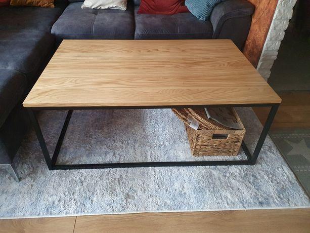 Stolik kawowy ława w stylu loft dąb drewno