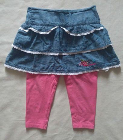Skecheers Фирменная стильная джинсовая юбка лосины 2в1 на девочку 3-5л