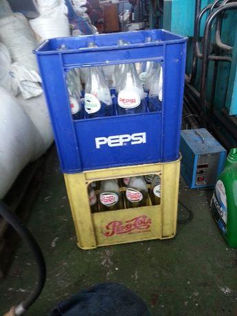 szklane butelki po pepsi 1l