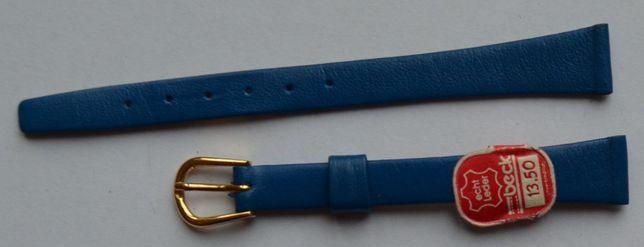 Niebieski damski pasek do zegarka 12 mm. Nowy! Skórzany! Wysoka jakość