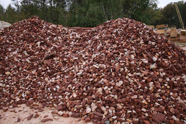 CZERWONY kamień do gabionów