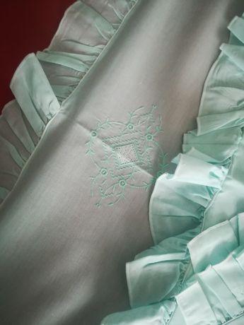 Jogo cama de casal verde água