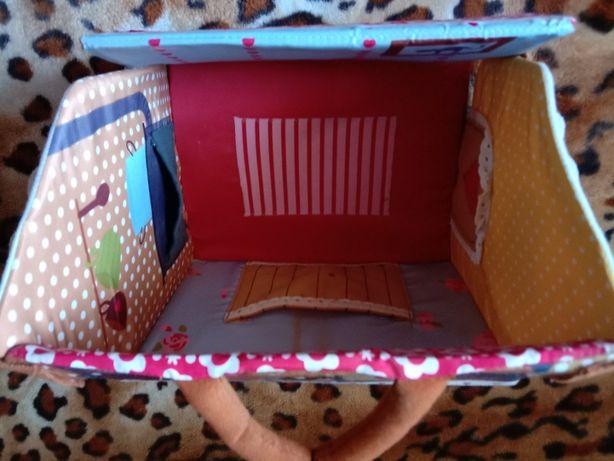 Складной переносной домик для кукол игрушек девочке