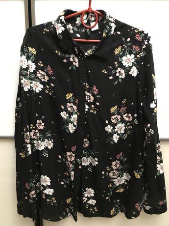 Блуза, блузка, в цветочек