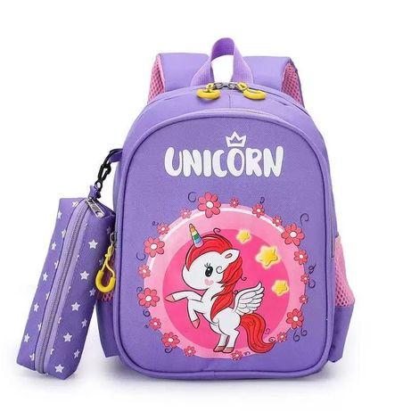Детский школьный рюкзак с пеналом для девочки