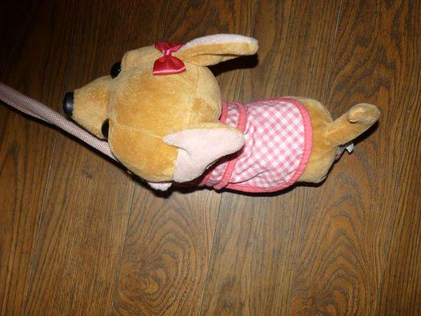Zabawka maskotka szczekający pies pluszak gra działa