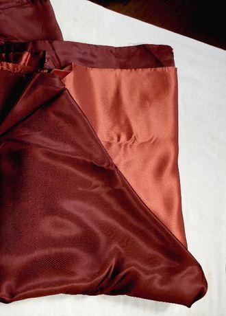 Ткань двухсторонний плотный атлас, шоколадно-золотистый, 1.40м х 3.5м