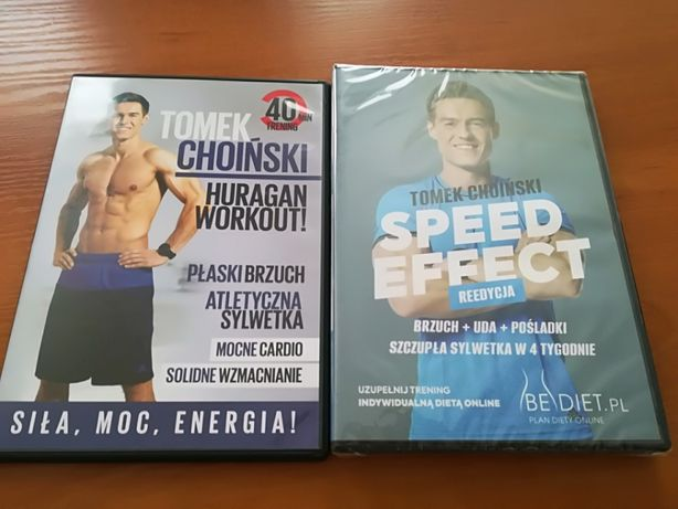 Tomek CHOIŃSKI zestaw speed effect + huragan workout NOWE