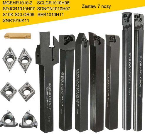 Noże tokarskie skłądane - komplet 7 sztuk 12x12mm
