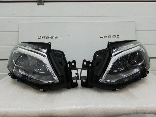 Фары Mercedes GLE W166 оригинал черная линза состояние новых