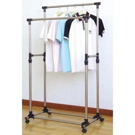 Вешалка стойка для одежды телескопическая Double Pole Mini