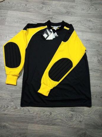 Вратарская накидка Adidas вратарская форма черно желтая p. XL