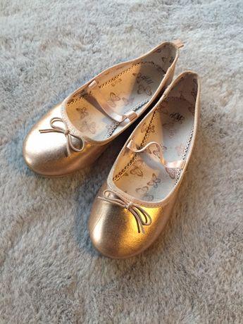 Złote balerinki h&m rozm 33