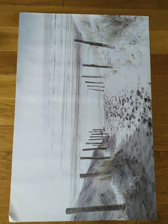 Plakat zejście na plażę 60x90 cm