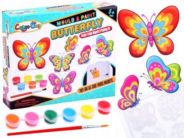 Zestaw Kreatywny Zrób Sam Magnesy Motyle Za2874