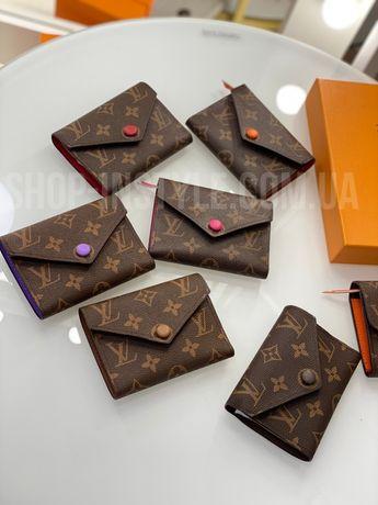 Женские модные кошельки Louis Vuitton. Разные цвета.