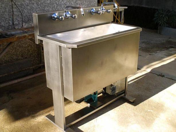lavatório ourives automático em aço inox