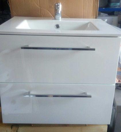 szafka łazienkowa wisząca z umywalką,baterią i syfonem,kpl,nowy