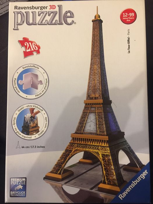 Puzzle 3d Wieża Eiffel 216 elementow Kielce - image 1
