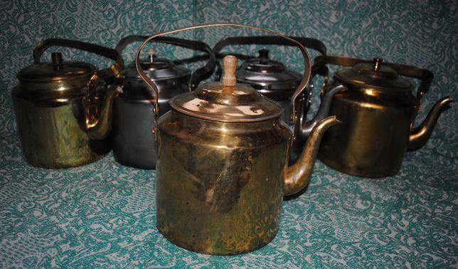 Робочий латунний 3,5л чайник для подорожей, на рибалку.