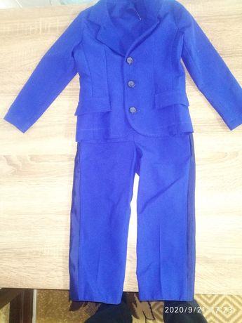 Синий нарядный костюм