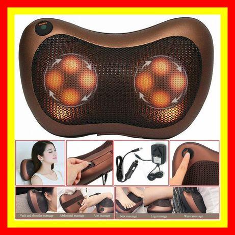 Массажная подушка Massage Pillow для спины, шеи и ног Массажёр