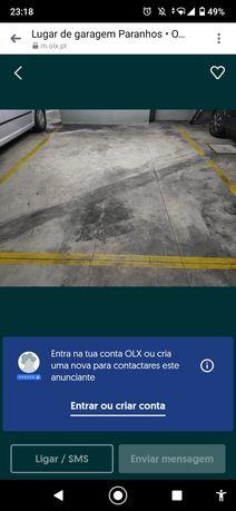Lugar de garagem espaçoso mota e carro Comando próprio