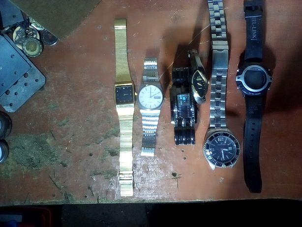 zegarki,rozne,6 sztuk
