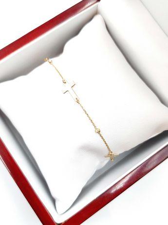 Złota bransoletka Pr. 585 Waga: 1,87 G Plus Lombard