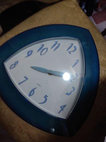 Relógio de parede 30x30cm azul