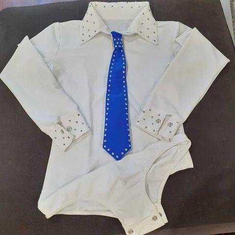 Body-Camisa e Gravata para Patinagem Artística
