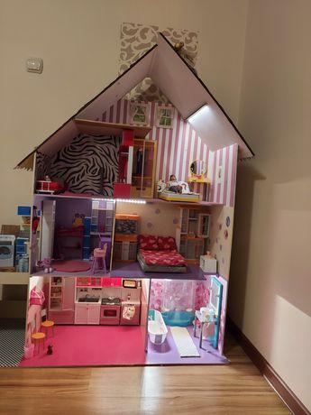 Ogromny domek dla lalek barbie lub innych kuchnia, łazienka, pralnia