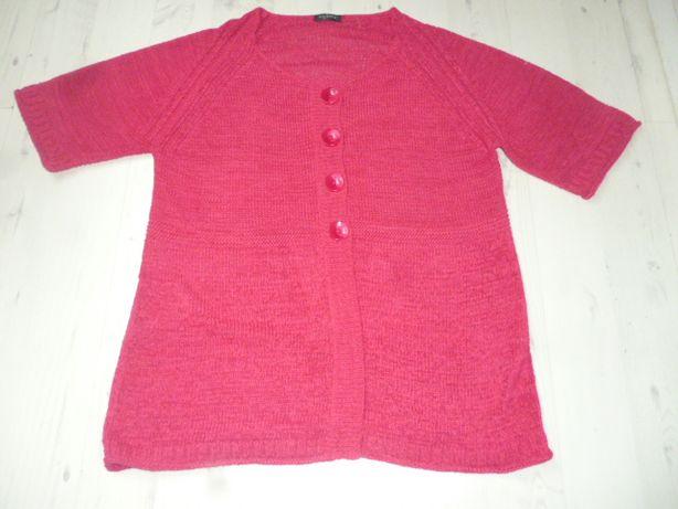 Fuksjowy sweterek damski