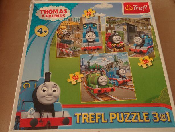 Trefl, Tomek i Przyjaciele, puzzle 3w1