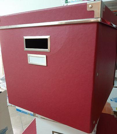 4 caixas de arrumação c/tampa IKEA Kassett vermelhas