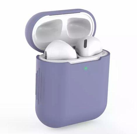 Etui silikonowe do AirPods 1/2 fioletowe