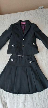 Школьная форма Новая форма 122 черная пиджак юбка сарафан блузка