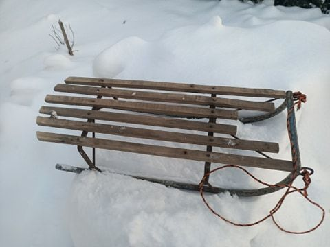 Sanki xd zima śnieg