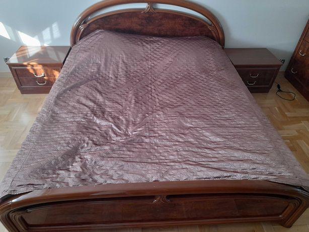 Komplet włoskich mebli do sypialni Łóżko Szafa Komoda Lustro TRANSPORT
