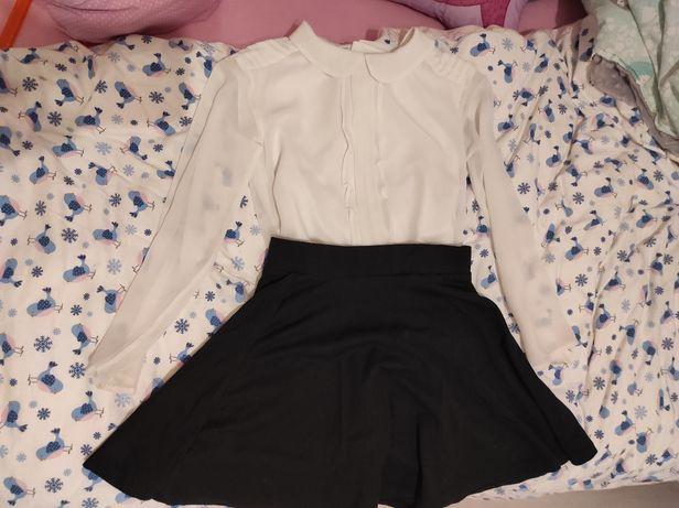 Zestaw bluzka mayoral spódnica c&a