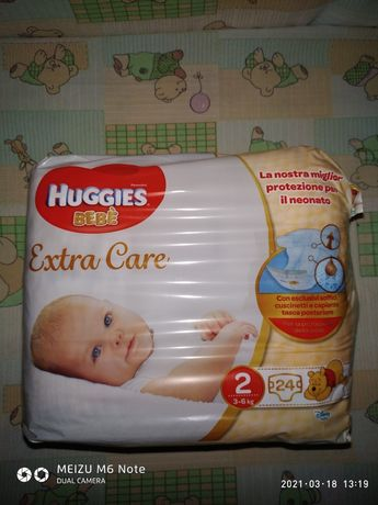 Памперсы Huggies Extra Care 2