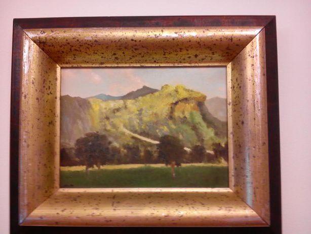 """Pintura de óleo sobre tela, série de 2 quadros """"Paisagem com Montanha"""""""