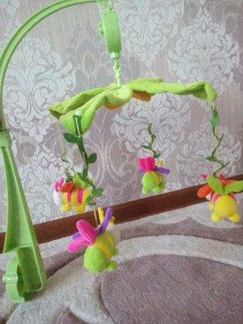 Яркий красивый музыкальный мобиль подвеска Цветочная поляна